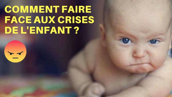 colère bébé crises
